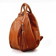 $8.45 Stylish and Laconic PU Zipper Design Handbag/Backpack/One-Shoulder Bag For Female (Not Include Fringe)