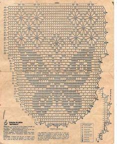 Croche maravilha de arte: Caminho de mesa ... borboleta