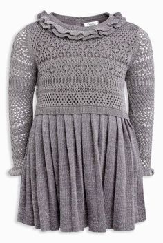 Grey Sparkle Knitted Party Dress (3mths-6yrs)