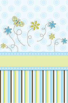 ♥ Scrapylicious Cute Blue Design Wallpaper.