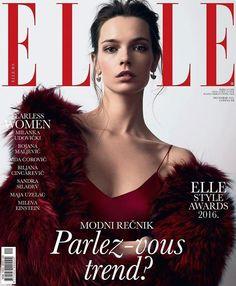 Elle Serbia December 2016 Cover (Elle Serbia)