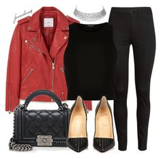 """""""Untitled #746"""" by foreverdreamt ❤ liked on Polyvore featuring H&M, MANGO, River Island, Chanel and Christian Louboutin"""