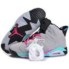 womens air jordan retro 6 pink white