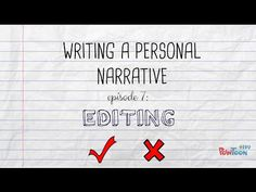 Writing a Personal Narrative: Writing a Closing or Conclusion for Kids - YouTube