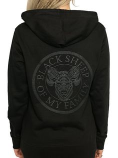 "Womens InkAddict ""Black Sheep"" Hoodie (Black Collection) 