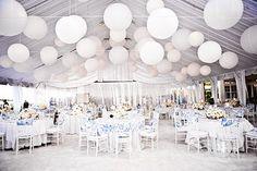 white balloon wedding