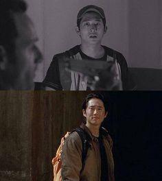 Glenn Rhee changing with the seasons Season 1 through 4