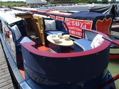 "narrowboat builders ~ bespoke narrowboats ~ narrowboat fitters – ""idle ours"" - Vanlife & Caravan Renovation Barge Boat, Canal Barge, Canal Boat Interior, Barge Interior, Narrowboat Interiors, Dutch Barge, Caravan Renovation, Boat Lift, Floating House"