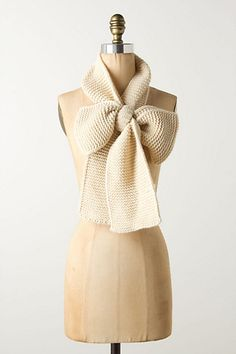 Pure Inspiration! Knit or Crochet a  long rectangle,... tie a bow, and there you have it!