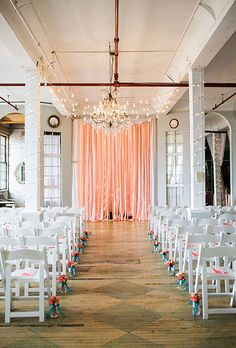 Brides.com: . Minimalist Décor. Go easy on the flowers, the candles, and the purchases from Etsy. Opt-in for a minimalistic décor look and play off the bare bones of the venue or outdoor location you're getting married in.
