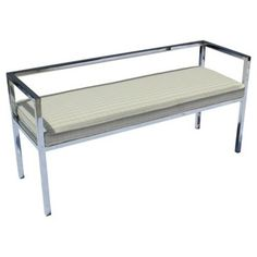 Check out this item at One Kings Lane! Chromed Bench by Swaim Designs