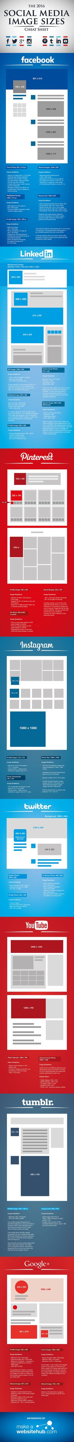 Infografik: Socia Media Image Cheat Sheet