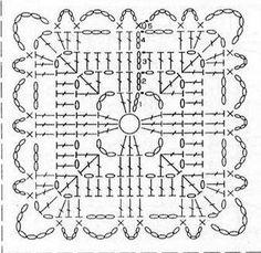 Crochet Heart Pattern Granny Square Yarns 16 Ideas For 2019 Crochet Squares, Crochet Heart Blanket, Crochet Motif Patterns, Crochet Blocks, Granny Square Crochet Pattern, Crochet Diagram, Crochet Chart, Crochet Granny, Crochet Doilies