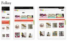 Folksy responsive site. The New Mantra: Mobile first