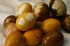 a little too early for this, but stumbled upon it and had to pin it: Easter Eggs – Elegant Ideas For Your Easter Eggs!