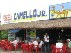 El Camello: Front of the restaurant, Tulum, Mexico.