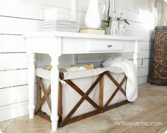 Wood and Canvas Storage Crate | Knock Off Decor | Bloglovin'