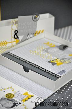 Two things - grey and yellow and b/w photos are da'bomb, and this is a great website for sb projects!!
