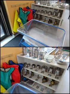 """My Environment - Early Years Classroom from Rachel ("""",) Water Tray, Sand And Water Table, Curiosity Approach Eyfs, Water Play Activities, Natural Play Spaces, Early Years Classroom, Eyfs Classroom, Sand Play, Preschool Centers"""
