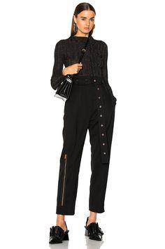 f44842cc328f Image 4 of Proenza Schouler Lurex Turtleneck Sweater in Black Printed  Pants
