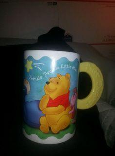 Walt Disney Winnie the Pooh Large Coffee Mug,  pooh bear, tigger, piglet, eyore