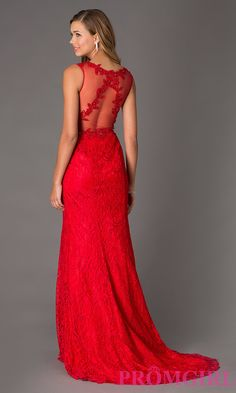 Floor Length Sleeveless Lace Dress by Swing Prom. Shop the look: http://www.promgirl.com/shop/dresses/viewitem-PD1306460