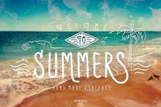 Summers Typeface + BONUS vector by inumoccatype on @creativemarket