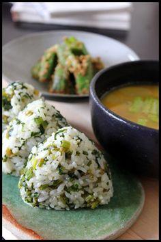 Green Veggies Onigiri