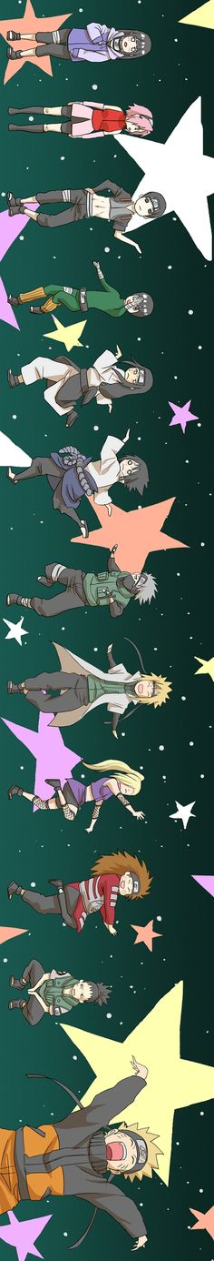 It's the dance moves to Pinocchio right? Konoha 11+ Kakashi & Minato