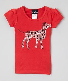 Look at this #zulilyfind! Red Dalmatian Short-Sleeve Tee - Infant, Toddler & Girls by A Wish #zulilyfinds