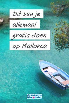 Vakantiegeld-tijd! Maar misschien heb jij dat van jou al voor een groot deel uitgegeven aan andere zaken… Tijd om voor een budgetvakantie te gaan. Wist je bijvoorbeeld dat je op Mallorca enorm veel gratis kunt doen? Houd die portemonnee maar in jouw zak met deze activiteiten. #mallorca #spanje #spain #balearen #vakantie #gratis #free #travel #reizen Girls Vacation, Canario, Menorca, Surfboard, Trips, Cruise, Spain, To Go, Places To Visit