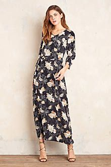 Kalani Silk Maxi Dress, Black