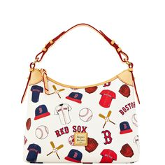 Team pride is in full swing on our coated cotton MLB Collection. This hobo is one of the original Dooney & Bourke handbags.  Inspired by our New England roots, it's simple and sporty, perfect for when you're out and about the town.