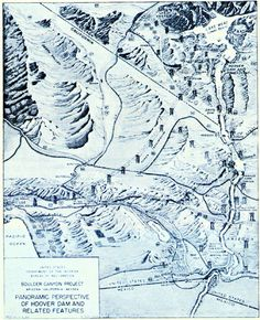 Panoramic perspective of areas adjacent to Hoover Dam_From Lake Mead_Power to LA_Power to AZ_Herbert Hoover Presidential Library Online_The National Archives