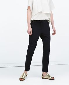 ZARA - NEW THIS WEEK - TROUSERS WITH WAIST APPLIQUE