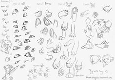eyes, paws, hands, cuty cat parts ^-^ try with fay
