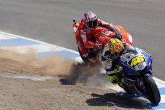 #Rossi -v- Stoner ... look who's winning!