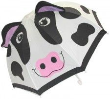Stand out in a crowd with this cow umbrella while standing out of the rain.
