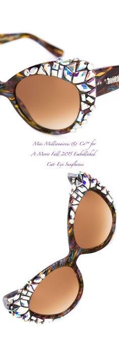 A-Morir Fall 2015 Embellished Cat-Eye Sunglasses - Miss Millionairess & Co™