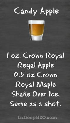 Crown Royal Regal Apple Drink Recipes Candy Apple
