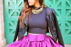 The lovely KTRstyle in a t+j Jewel Stone necklace