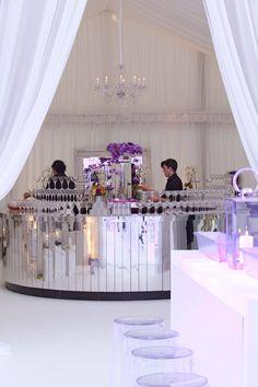 Glamorous Mirror Shard Bar. Perfect For A Wedding.