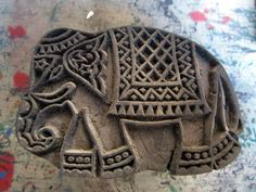 Wooden block printing - an ancient Indian art, A vintage wooden elephant block. Read more on the blog