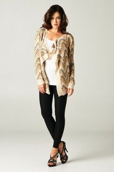 Aztec knitted cardigan for a casual wear or on a date to keep you warm and snuggled  #salediem #fall #outerwear
