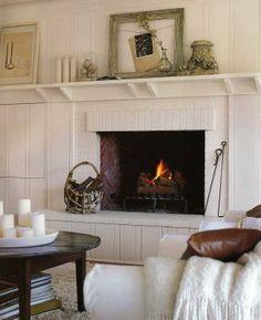 Shelf style mantle