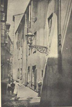 Warszawa, ul. Rycerska, fot. Tadeusz Przypkowski (1935) Old World, Mj, Old Photos, Poland, Northern Lights, Funny Pictures, River, Spaces, Drawing