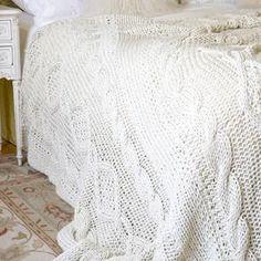 DIY::Cabled blanket