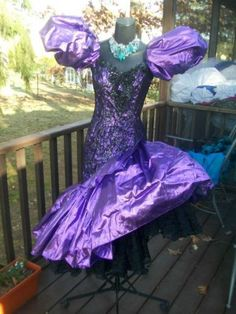 SALE Vintage Ball Gown Metallic Blue 70s 80s Prom Dress ...