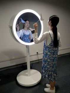 (25) LinkedIn Mirror Photo Booth, Oval Mirror
