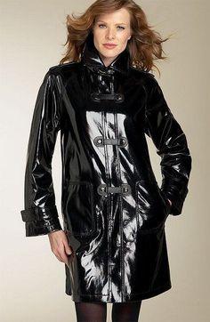 Cool Black #PVC #raincoat